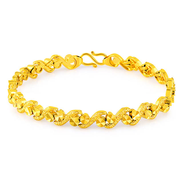 Us 3 94 5 Off New Style Pure Gold Color Bracelets Bangles For S Women 24k Gp Unique Design Bracelet Luxury Wedding Jewelry In