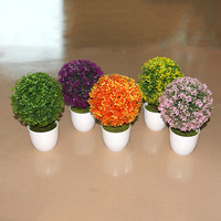 Home decoration plant manufacturers simulation of small potted decorative plastic flower simulation bonsai quality