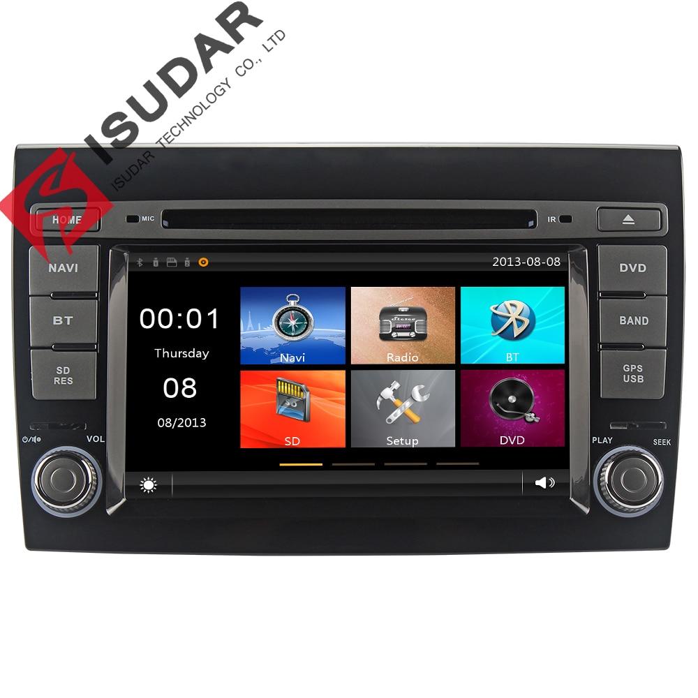 Isudar Car Multimedia Player 2 Din Car Radio GPS For Fiat/Bravo 2007 2008 2009 2010 2011 2012 Canbus Remote Control TPMS DVR