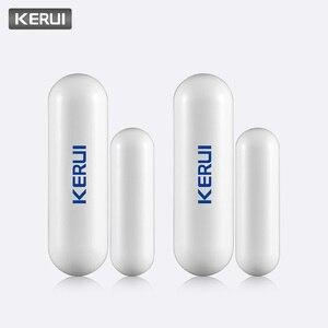 Image 2 - KERUI 2 шт. 433 МГц портативный датчик сигнализации для умного дома, s детекторы, беспроводной магнитный датчик двери для окон, датчик для системы сигнализации Kerui