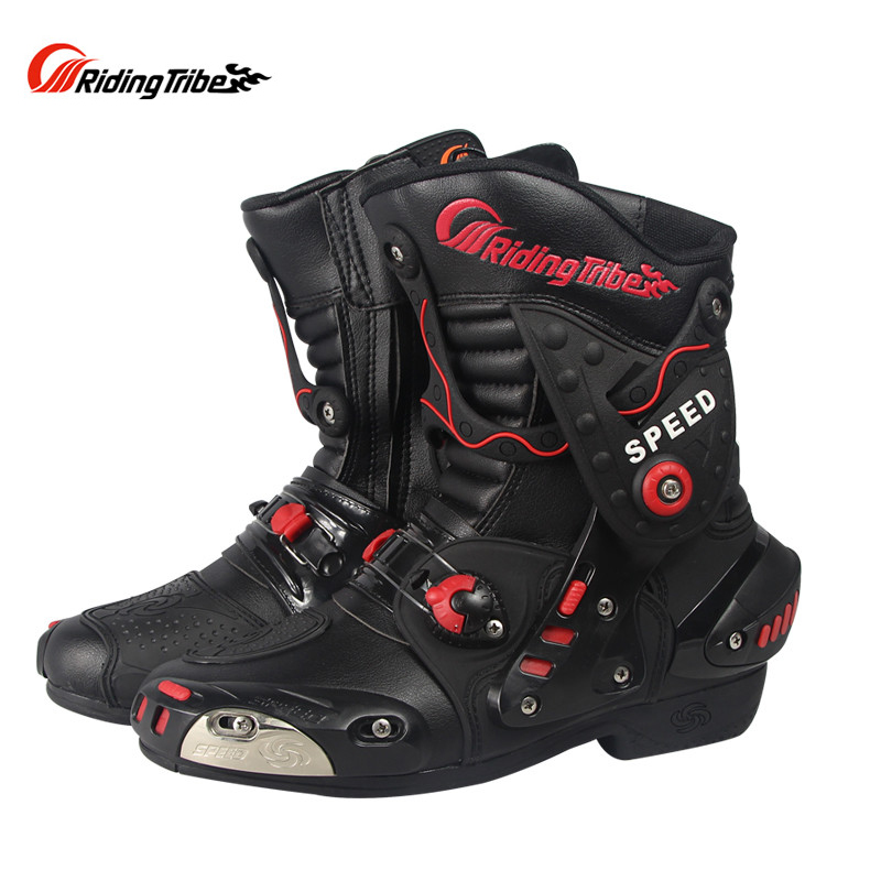 Pro Biker Speed A010 Motorcycle Off Road Riding Protective Boots Moto Motorbike Racing Scooter Motocross Boots Gear pro biker motorcycle saddle bag pattern luggage large capacity off road motorbike racing tool tail bags trip travel luggage