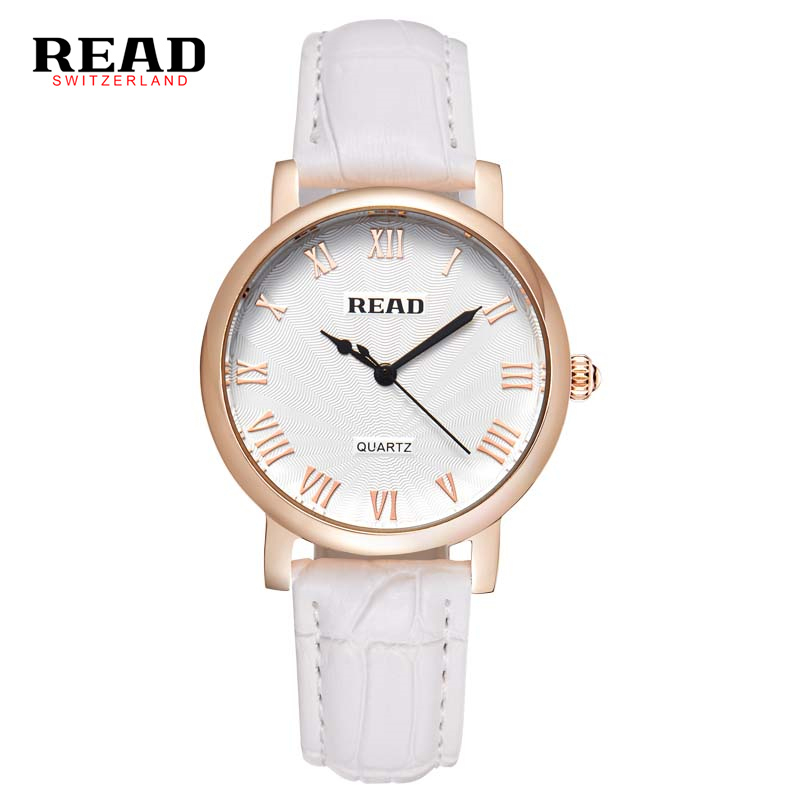 READ brand 2017 new fashion rose gold case watches ladies wrist watch with leather strap  relogios femininos 21573