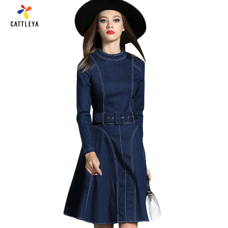 Popular Denim Jean Dresses for Women-Buy Cheap Denim Jean Dresses ...