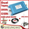 Direct Marketing  Dual Frequency GSM 900MHz&DCS1800MHz +indoor ,outdoor antenna +cable Mobile Phone Booster 1sets