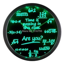 nc0463 Math Class Time is Passing are you Gift Decor Neon LED Wall Clock