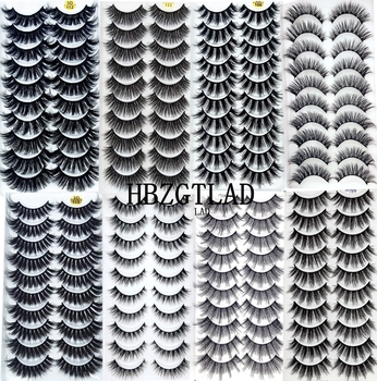 NEW2-10Pairs 3D Faux Mink Eyelashes Natural Thick Long False Eyelashes Dramatic Fake Lashes Makeup Extension Eyelashes maquiagem 1