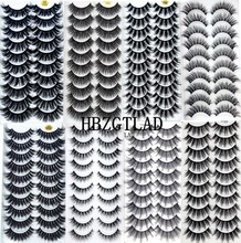 NEW2-10Pairs 3D sahte vizon kirpik doğal kalın uzun yanlış Eyelashes dramatik takma kirpik makyaj uzatma kirpik maquiagem