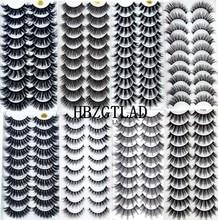 NEW5/10 çift 3D sahte vizon kirpik doğal kalın uzun yanlış Eyelashes dramatik takma kirpik makyaj uzatma kirpik maquiagem