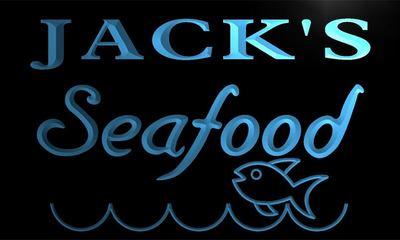 x0053-tm Jacks Seafood Restaurant Custom Personalized Name Neon Sign Wholesale Dropshipping On/Off Switch 7 Colors DHL