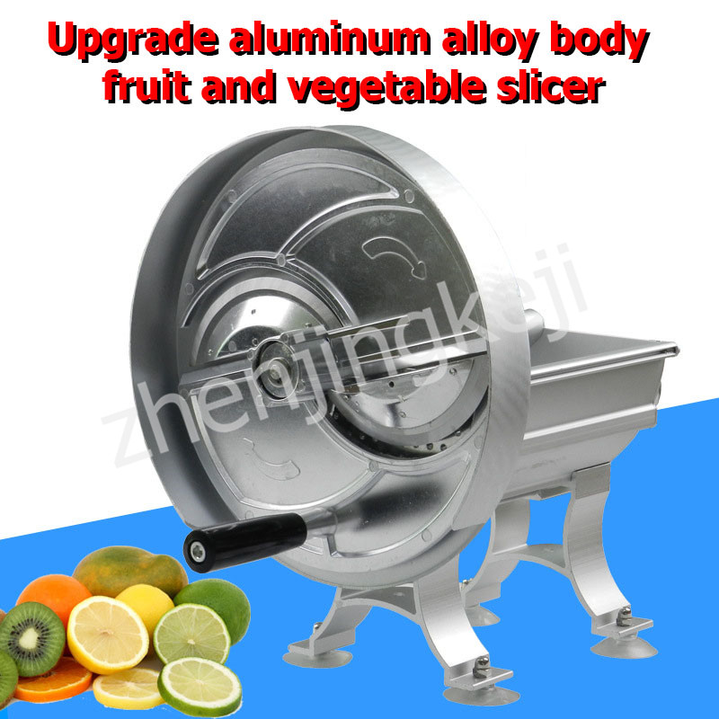 Household Slicer Commercial Aluminum Alloy Hand Fruit Slicer Manual Potato Lemon Slicer