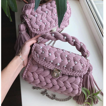 2019 spring and summer new ins wind Weaving package, fringed pearl handbag handmade material package