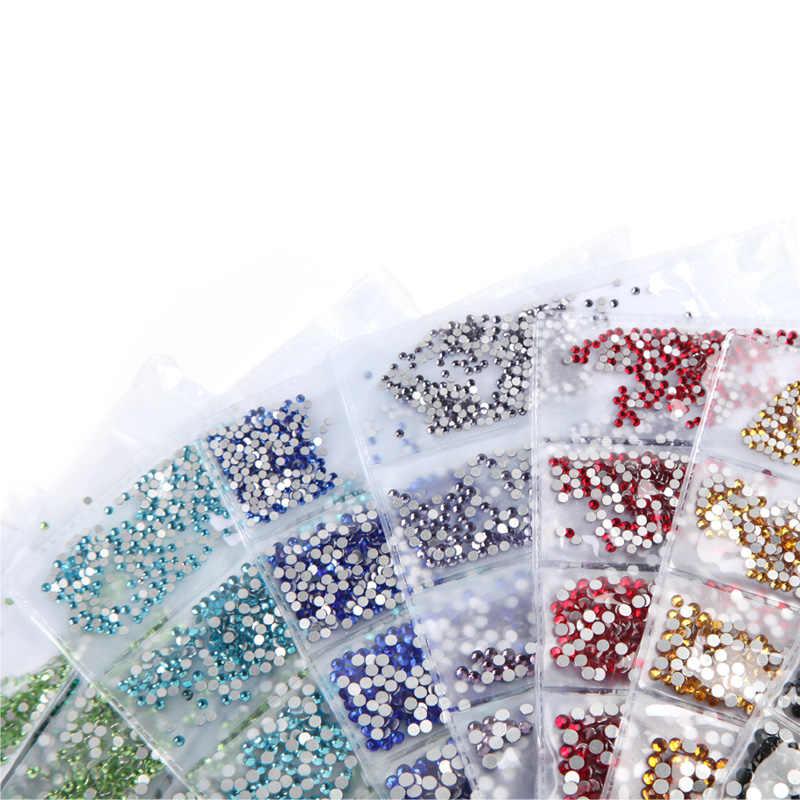 ROSALIND дизайн гвозди Блеск Кристалл Rhinestone Magic 3D стекло Красота аксессуары для ногтей красочные дизайн ногтей аксессуары