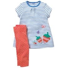 Mode Babykleidung Neugeborene Mädchen Erdbeere Applique Kleidung Sets Infant Kleider + Leggings Sommer Outfit Kinder Trainingsanzug