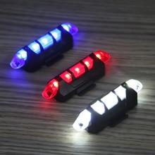 5 LED USB MTB ceļa velosipēdu aizmugurējo lukturu uzlādējamais portatīvais drošības brīdinājums Velosipēdu aizmugurējās gaismas lampas Riteņbraukšanas velosipēdu aksesuāri