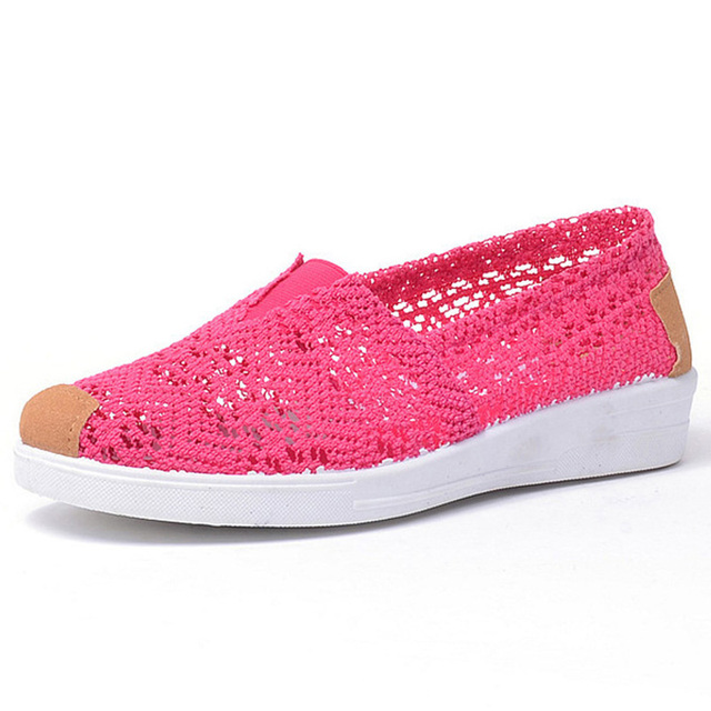 2017 Summer autumn Flat Shoes Woman Comfortable Casual Flats Women's Shoes Leisure Hollow Breathable Women Shoes Size 36-40
