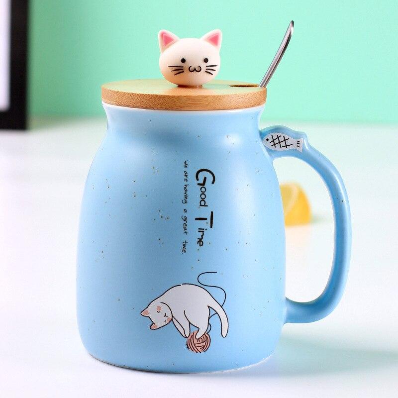 cat mug with lid