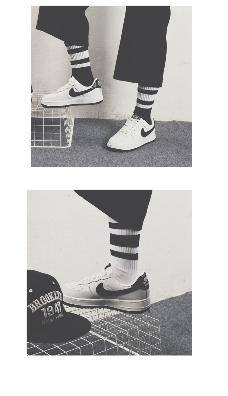Hipster Man Crew Skateboard Socks Mens Ins Style Classic Striped Fashion Cotton Short Socks Autumn Harajuku Art Socks Male Sox Men's Socks