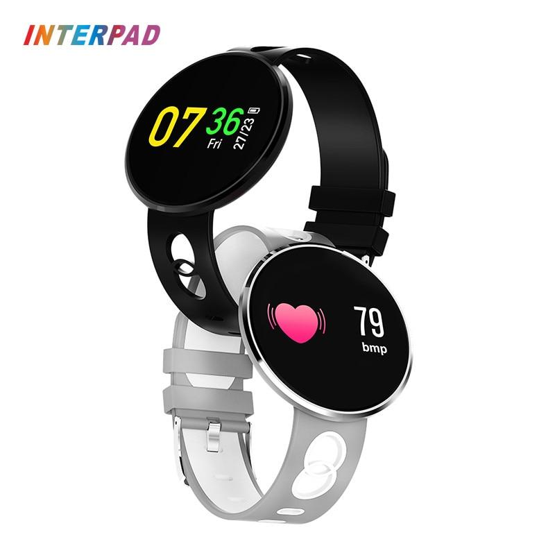 Hot vender Interpad Esporte Relógio Inteligente Bluetooth Smartwatch Para iPhone iOS Android Xiaomi Huawei Com IP67 Freqüência Cardíaca À Prova D' Água
