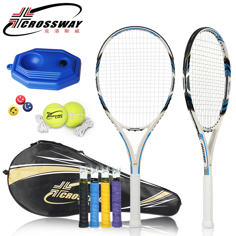 CROSSWAY Professional Tennis Racket Ultra-Light Full Carbon Tennis Paddle Integrated Training Game Racket Shock Absorber Handle various types wholesales 100 pcs tennis racket damper shock absorber to reduce tenis racquet vibration dampeners raqueta