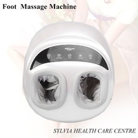 2017 NEW Presents! DC12V Best Full foot heating massage kneading smart ankle massager 4D Air Pressure Foot Machine pain relief