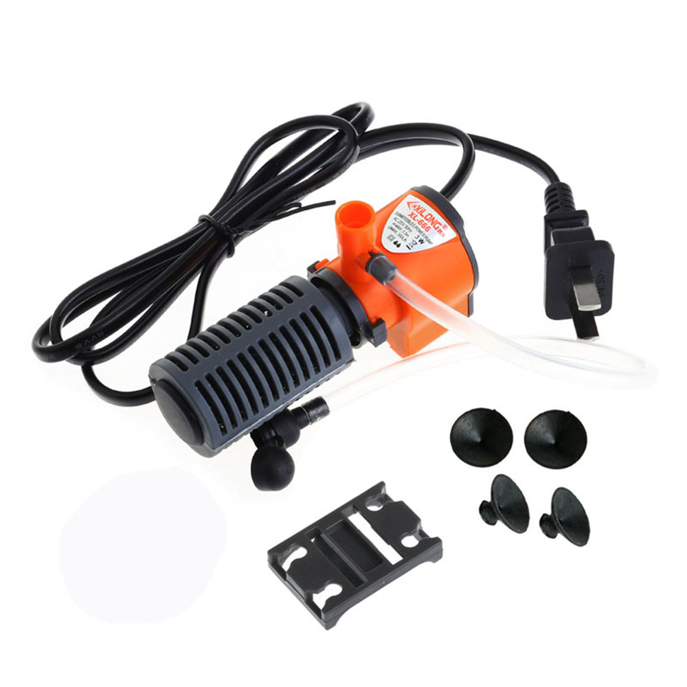 3 In 1 Silent Aquarium Filter Submersible Oxygen Internal Pump Sponge Water With Rain Spray For Fish Tank Air Increase 3/5W 4