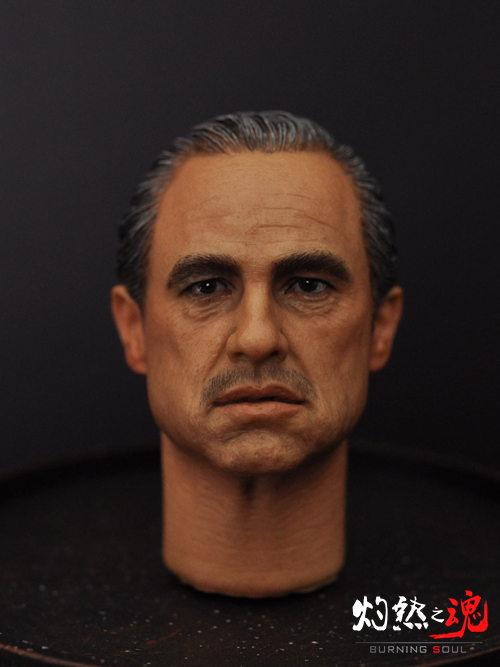 1/6 figure Accessory The Godfather headsculpt Marlon Brando head shape for 12 Action figure doll,Not included body and clothes brando htc hero