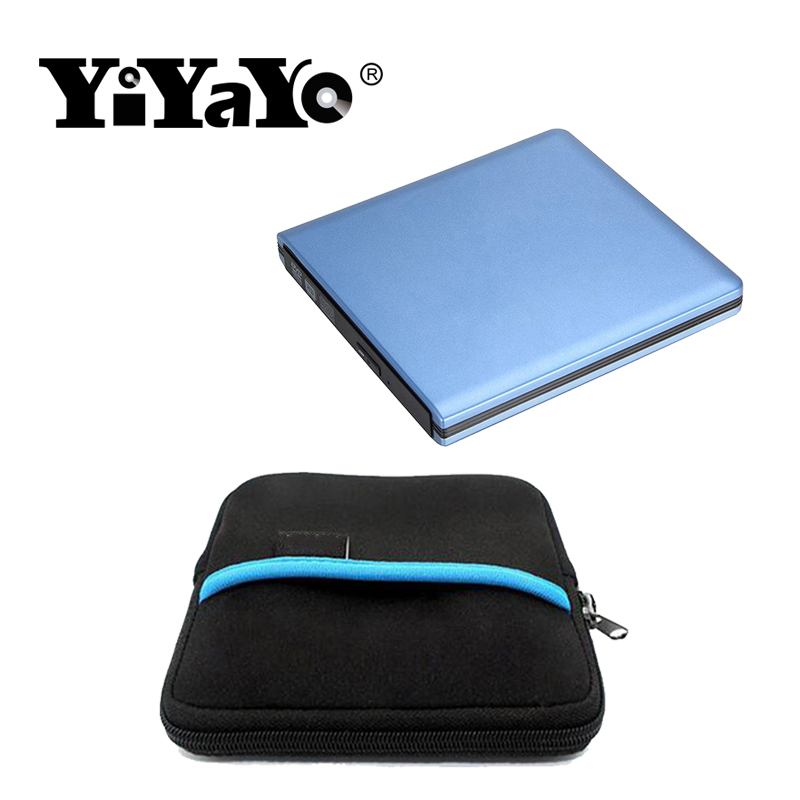 YiYaYo USB 3.0 DVD RW Drive CD/DVD ROM Player CD/DVD Burner External DVD Optical Drive Portatil forLaptop Computer+drive bag