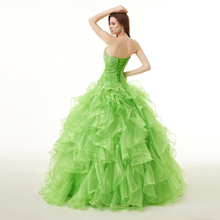 b8ff9ea5287 100% Real Images Gorgeous Quinceanera Dress New Sweetheart Long Ruched  Ruffles Beaded Formal Party Gown