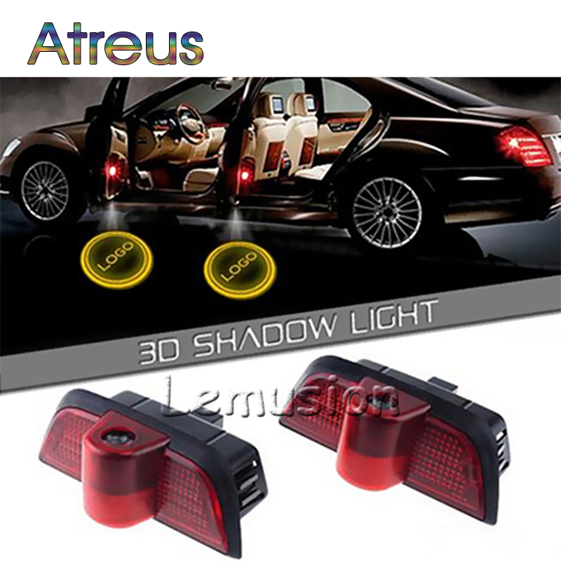 Atreus Car Door Welcome Lights For Mercedes W204 C Class C180 C200 C350 C63 Accessories Benz LED Courtesy Lamp Projector Styling car seat cover automobiles accessories for benz mercedes c180 c200 gl x164 ml w164 ml320 w163 w110 w114 w115 w124 t124