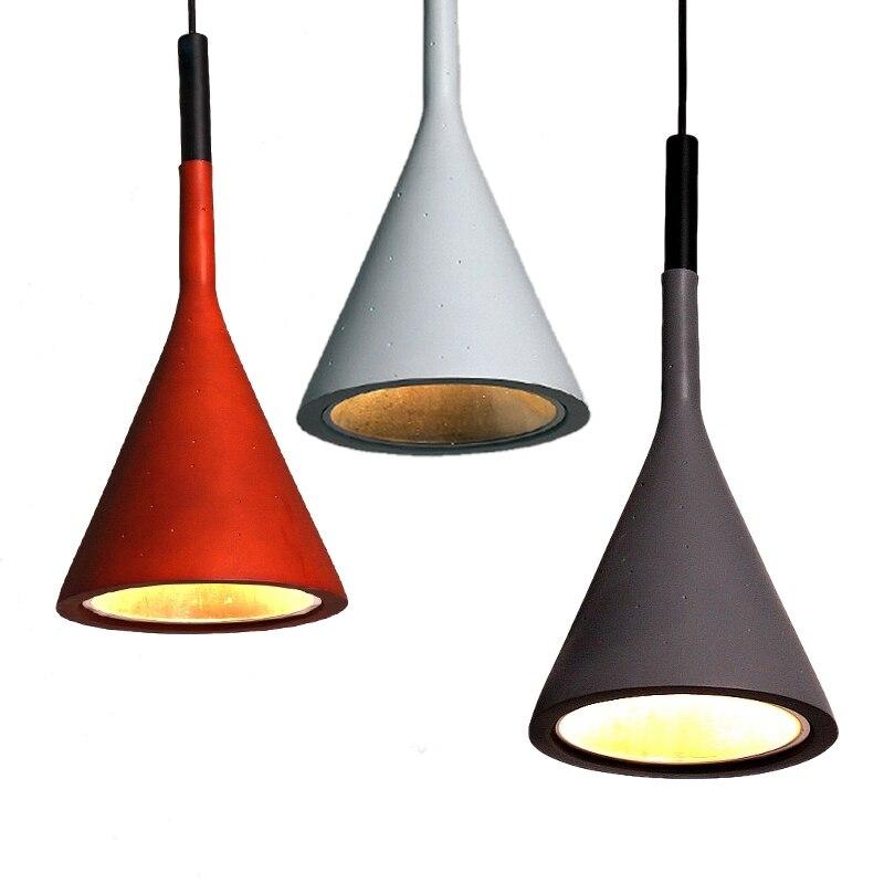Vintage pendentif LED lumières lampes résine Imitation ciment lampes suspendues Luminaire Suspendu abat-jour LED lampes suspendues luminaires
