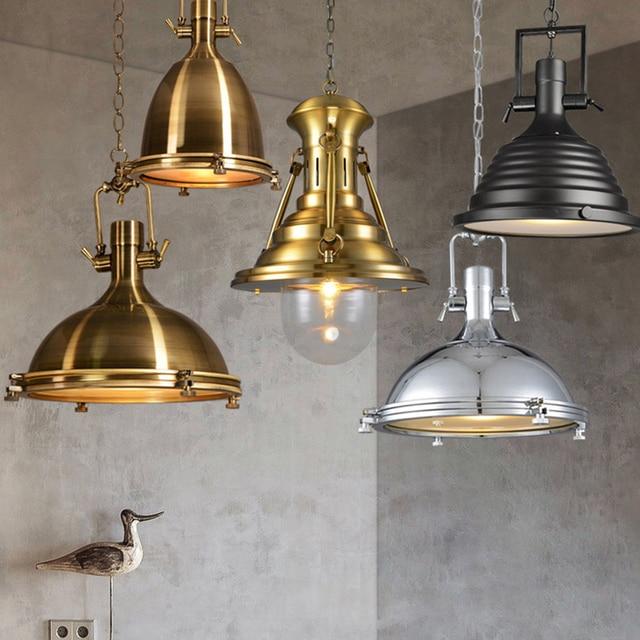 Estilo americano de la vendimia lámpara RH industrial colgante cromo ...