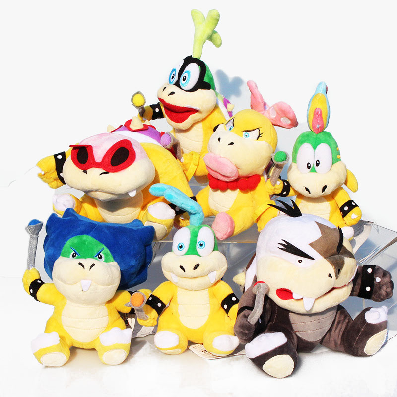 7styles Super Mario Bowser Koopa Plush Toy Wendy Lemmy Iggy Roy Morton Larry Ludwing Stuffed Soft
