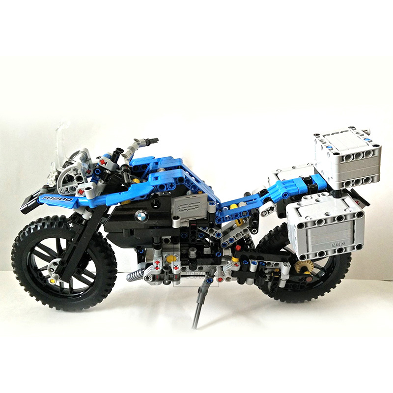 Decool 3369 Lepin 2 In 1  Motorcycle Car building bricks blocks toys for children Boy Game Gift 42063 8 in 1 military ship building blocks toys for boys