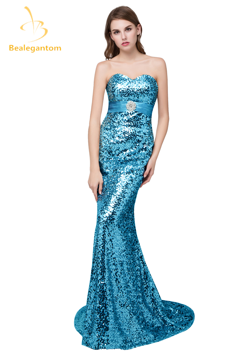 New Elegent Stock Red Royal Blue Gold Cheap Long Mermaid Evening ...