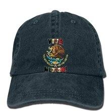 Hip hop gorras de béisbol hombres sombrero divertido mujeres Cool Viva México  mexicanos bandera emblema Escudo 234abeedae6