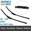 "Wiper Blades for SEAT Altea ( from 2004 onwards ) 26""+26""R Fit Claw Type Wiper Arms Only"