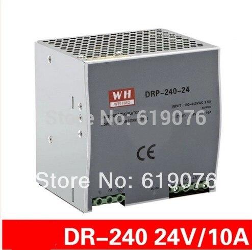 Nouveau composant Din rail 240 W 24 V ensemble unique de rail de guidage type commutateur de courant LED
