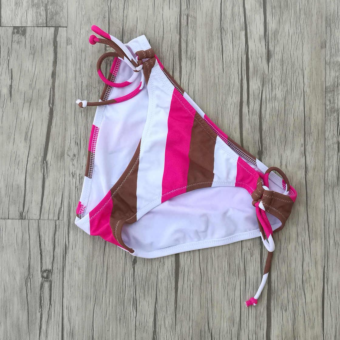 Femmes Triangle rouge rayures Bikini Sexy Secret Maillot De Bain brésilien Push Up Maillot De Bain fille Maillot De Bain