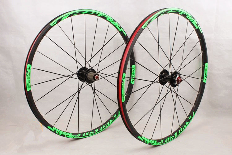 RC3 26inch mountain bike bicycle front 2 rear 5 bearing japan hub super smooth flat spokes wheel wheelset 27.5inch Rim free 1set front and rear 700c road bike wheel bicycle magnesium alloy three spokes parts integrated wheel fixed gear single speed