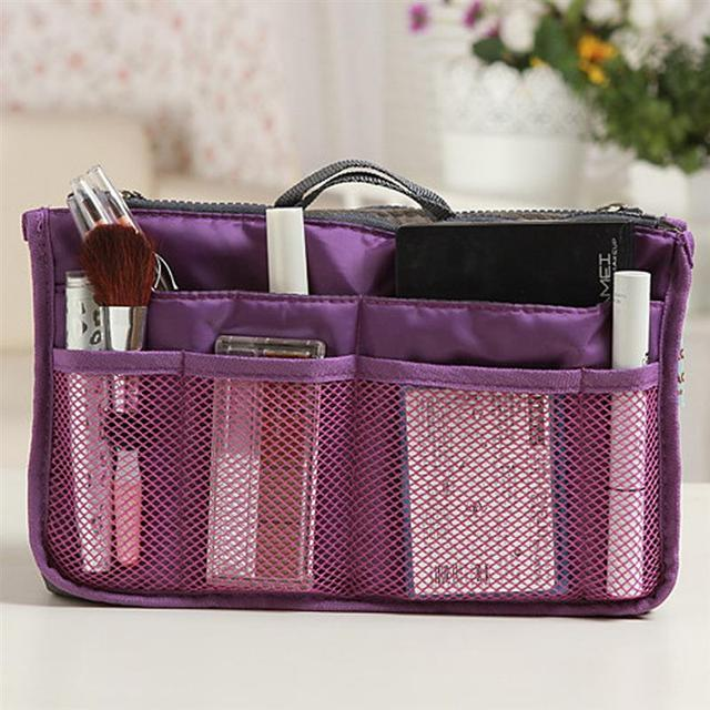 High Quality Thicken Large Capacity Cosmetic Storage Bag Nylon Travel Insert Organizer Handbag Purse Makeup Bag For Women Female 3