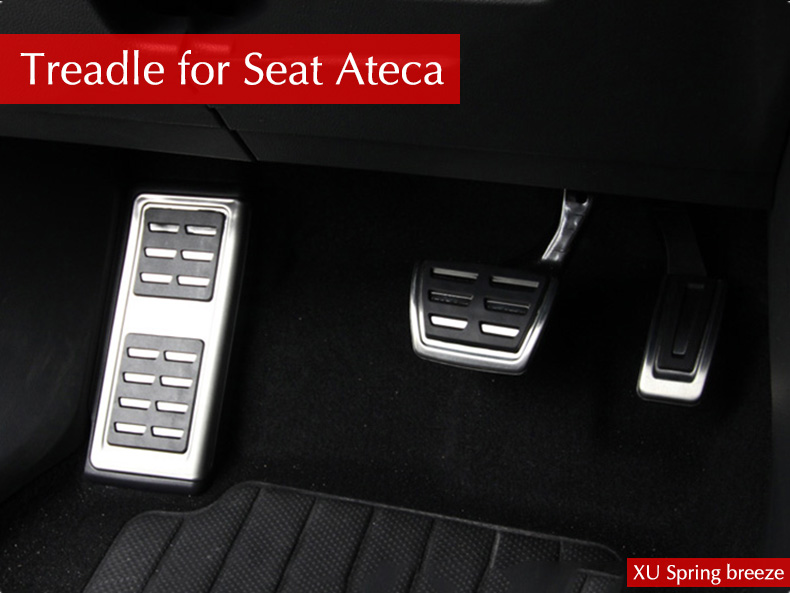 Car Refit Accelerator Pedal Plate Clutch Throttle Brakes Foot Pedal Treadle For Seat Ateca 2016 2017 2018 AT MT litanglee car accelerator pedal pad cover racing sport for mini cooper clubman r55 f54 2007 onwork at foot throttle pedal cover