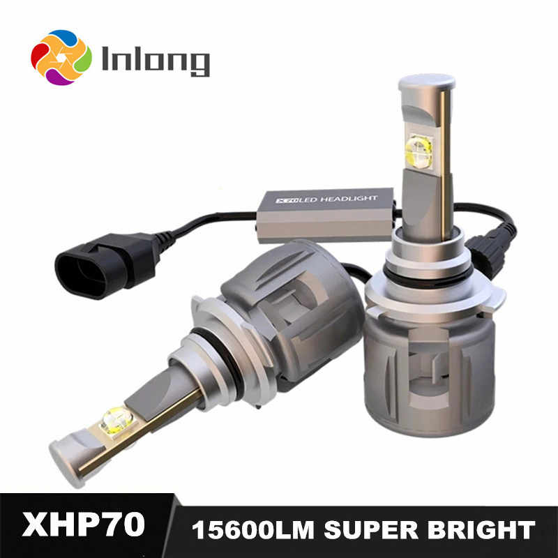 INLONG 100% Original Xhp70 Mini H4 LED H7 15600LM D4S H1 H8 H11 9005 D3S 9006 HB4 D1S Car Headlight Bulbs 6000K  Fog Lights  12V
