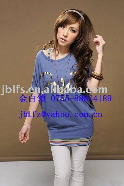 Free Shipping supply Japan, South Korea's most Dress style fashion loose tshirt