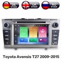 Zwnav Android 8,0 8 Core Оперативная память 4 ГБ Встроенная память 32 ГБ автомобиля gps навигации dvd-плеер радио для Toyota Avensis T27 2009-2015