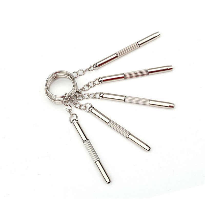 Multi-propósito 3in1 portátil chaveiro usado em óculos chave de fenda relógio de brinquedo de telefone celular produtos pequenos electrodomésticos