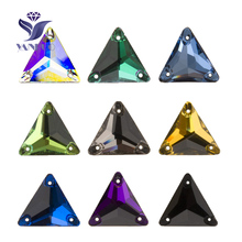 YANRUO 3270 Triangle 16mm 22mm All Color Sew On Stones Glass Crystals Rhinestones Best Quality Stones For Clothing