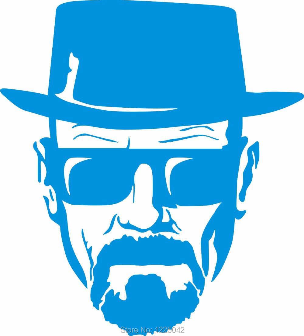 17eb92f35 Breaking Bad Decal- Heisenberg Face Wall Art Sticker, Vinyl Car Window  Decal Breaking Bad Walt White Cook Sticker