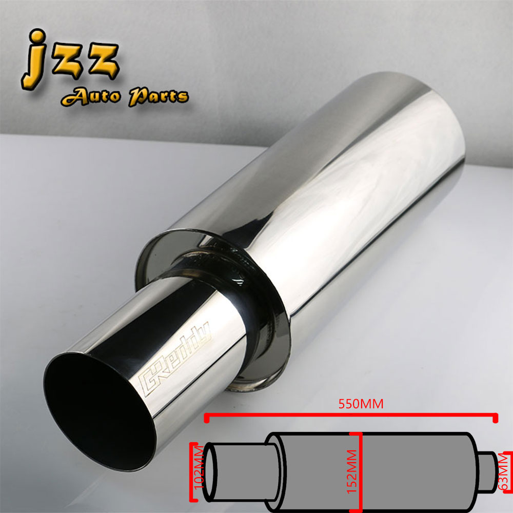 JZZ stainless steel akrapovic exhaust tip muffler for car pipe turbo sound smoking pipe sound bomb unloading motion car silencer stylish stainless steel car exhaust pipe muffler tip for santana toyota mazda chery more