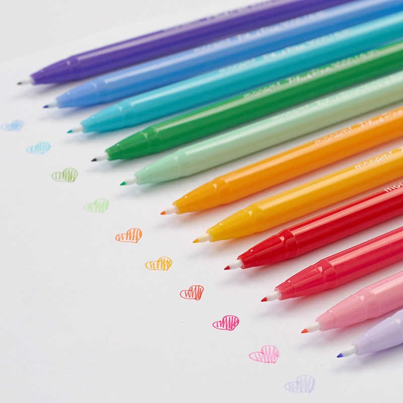 24 Color Cute Gel Pens Monami Plus Pen Korean Stationery Canetas Papelaria Zakka Gift Office Material Escolar School Supplies