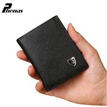 1 PC High Quality ultra-thin Men's Cowhide Leather Wallet ID Card Holder Purse Bifold Mini Wallet Billfold wallets carteira